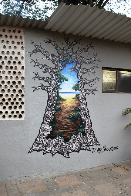 True Routes Art # 2 – Hole in the Wall Mural